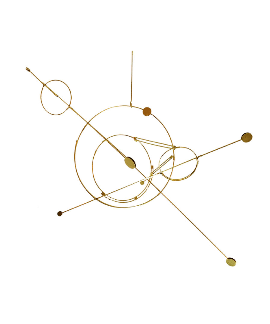 orbit-kajaskytte-designkollektivet-danskdesign-messing-uro-space design-rum-rummet-jorden-natur design-natur interiør-naturligt-materialer-naturmaterialer-designmaterialer-kollektiv design-billigt-pris-gave-present